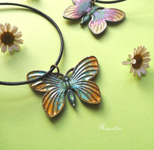 Motýl Vendelín - náhrdelník