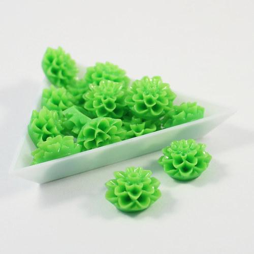 Kabošon jiřina 15 mm zelená 6 ks