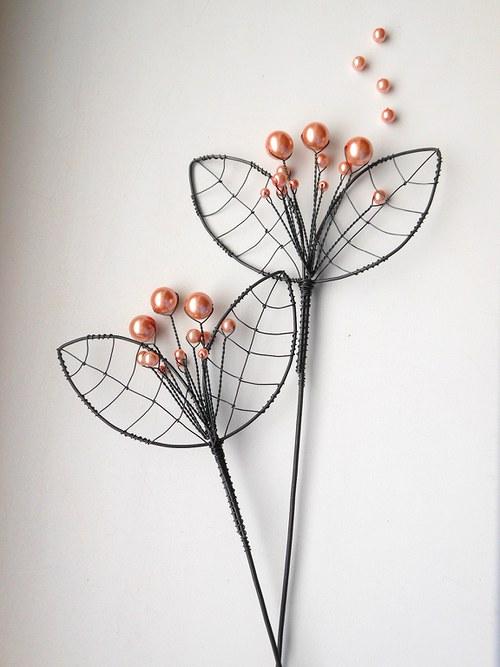 Růžový květ -zápich