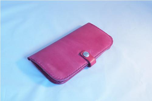 Dámská kožená peněženka - bordo