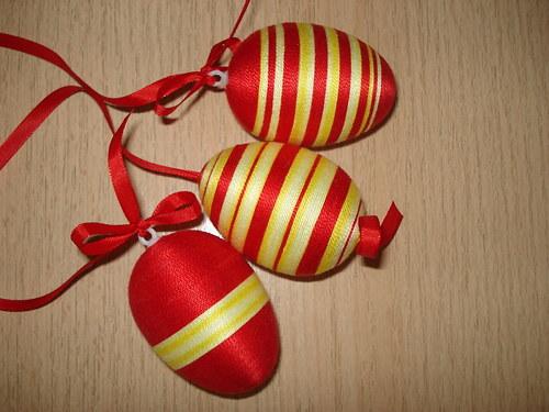 Velikonoční vajíčko - žluto červené