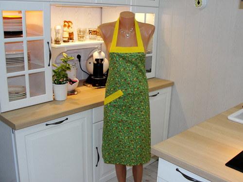 Zástěra na vaření - zelená zahrada