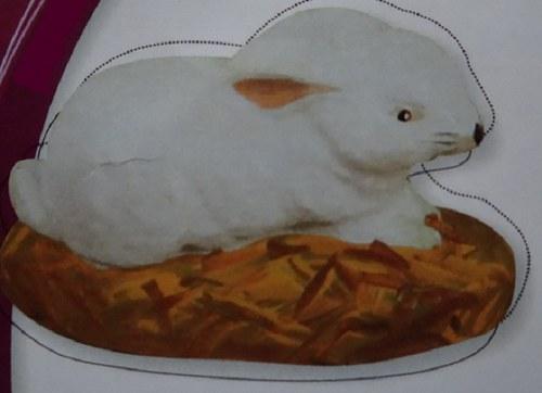 Sádrová dekorace zajíc, zajíček, velikonoce