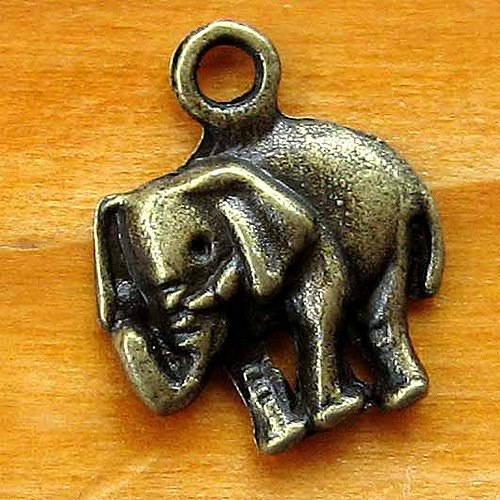 Slon - 2ks - Bronzový