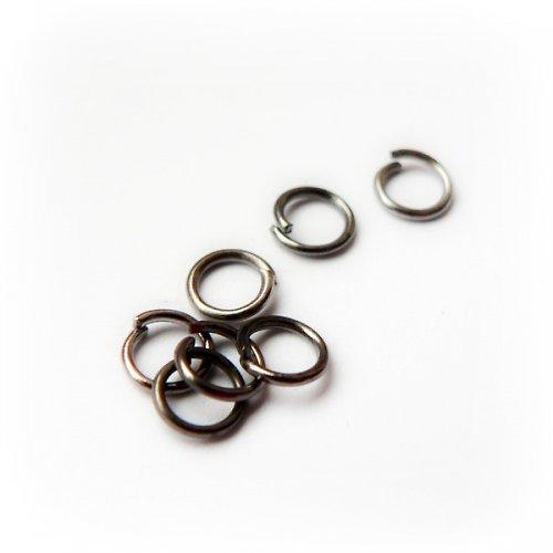 spoj. kroužky antracit - 50ks