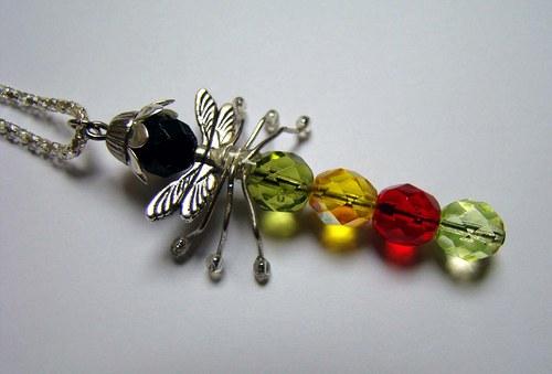 OHŇOVKA LEŠŤĚNKA - vážka - náhrdelník