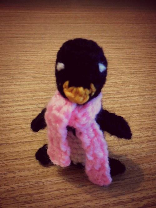 háčkovaný tučňák na klíče