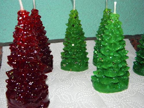 Svíčka z palmového vosku - vánoční stromeček