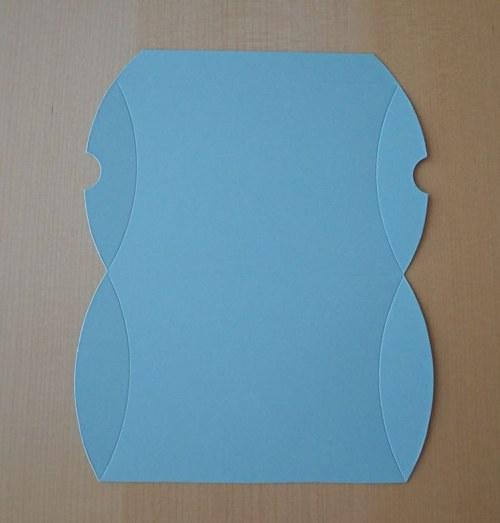 Výřez pro krabičku pukačku - světle modrá 1ks