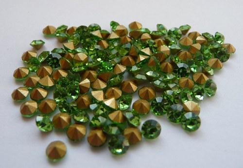 šatony zelené 3,6 mm 20 kusů