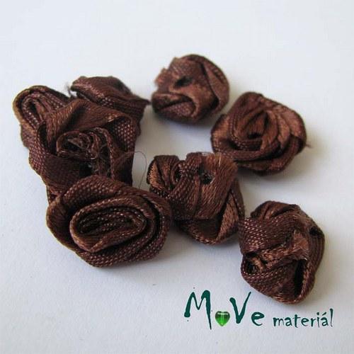 Růžička saténová hnědá Ø15mm, 10kusů