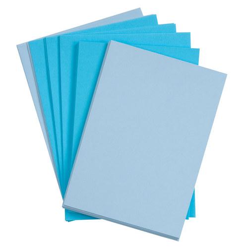 Blahopřání a obálky A6, modrá a sv.modrá - 10 ks