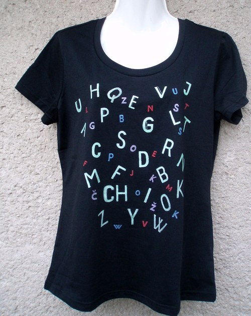 tričko samé písmenko