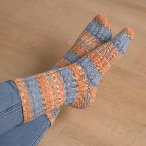Ponožky oranžovo / modré