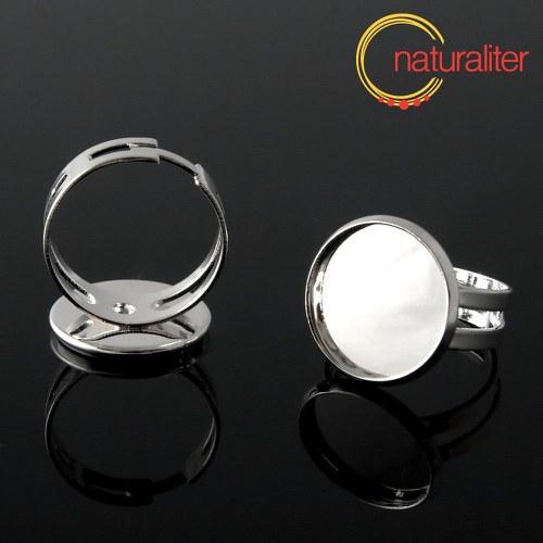 Základ na prsten s lůžkem 16mm stříbrná barva