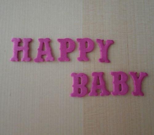 Nápis z moosgumi - HAPPY BABY - Pink