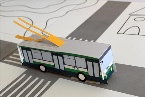 Vystřihovánka Trolejbus
