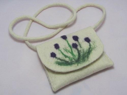Plstěná kabelka z ovčí vlny - levandule