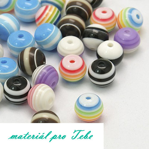 kuličky - pestrobarevné - 10 ks