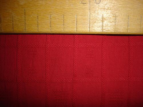 červená bavlna 1,5m