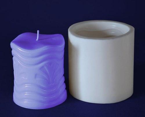 Forma na svíčky Válec vějíř 8cm