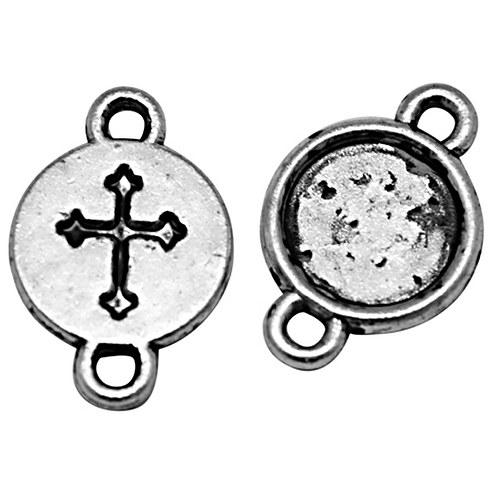 konektor (ramínko)/ ant.stříbro/ 16x10mm/ 2ks