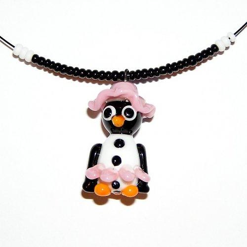 Tučňáčí družička - vinutá perle