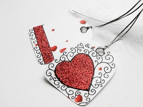 Zamilované visačky •sada 2ks•