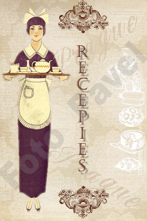 Vintage motiv - kuchařka - recepty
