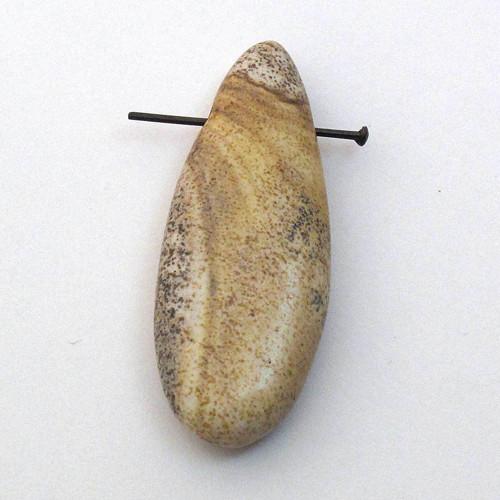 Přívěsek  obrázkový jaspis kapka 35mm