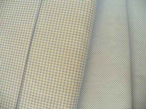 100 % bavlny modré štvorčeky