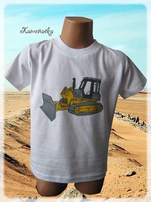 Dětské tričko s buldozerem