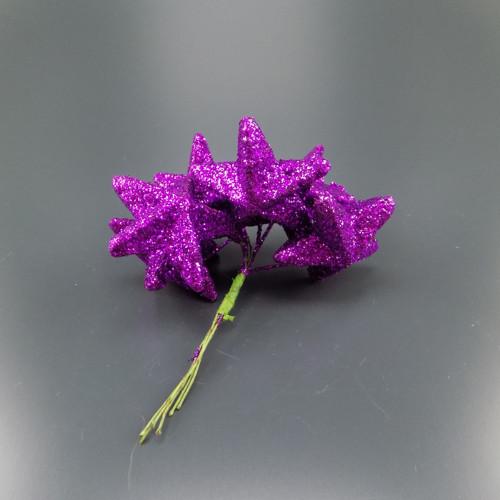 Hvězda na drátu 5cm fialová