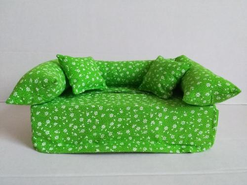 Gaučík zelený, kvítečkový