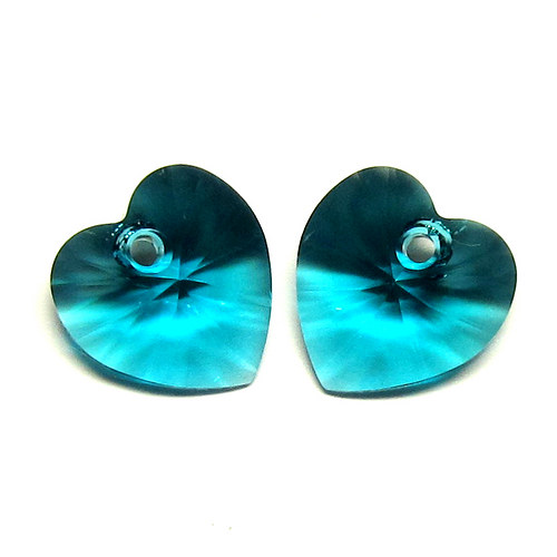 Swarovski srdce 10,5 mm - smaragd