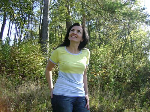 Modrožluté tričko