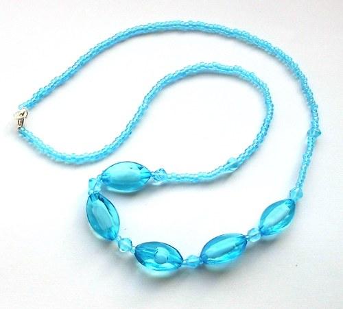 Tyrkysový náhrdelník+ naušnice zdarma