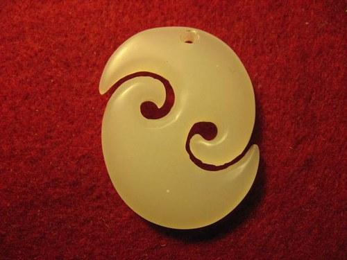 Amulet Maorský - Maori Koru, Nový zeland jadeit
