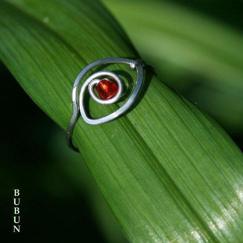 Prsten - kočkoočko červené