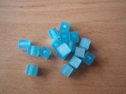 Kostička modrá, pryskyřicová - 30 Ks