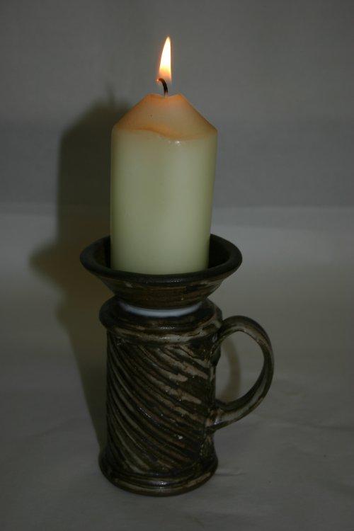 svícen škrábaný s mističkou (PK317)