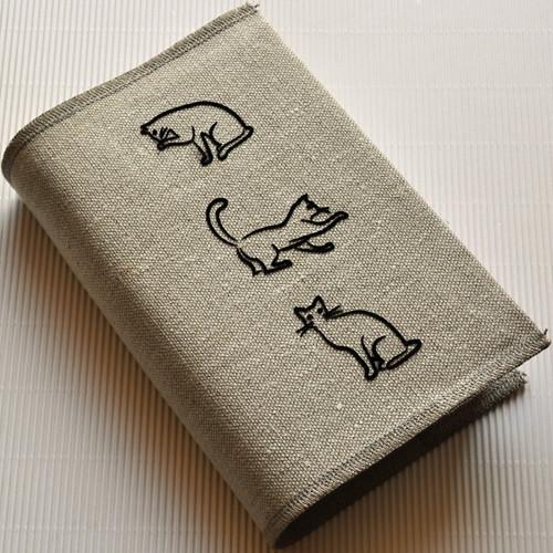 Tři kočky, nostalgie - obal na knihu