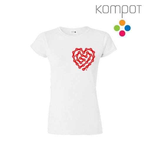 Dámské tričko CYKLOSRDCE :: bílé, vel. S-XL