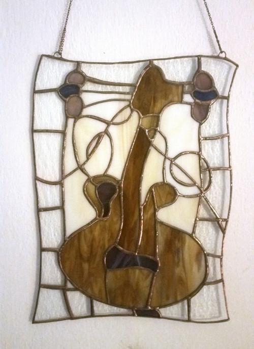 Kytara - vitráž