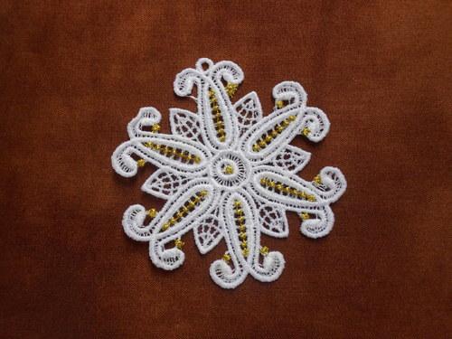 Vánoční ozdoba - sněhová vločka bílá AP1684006