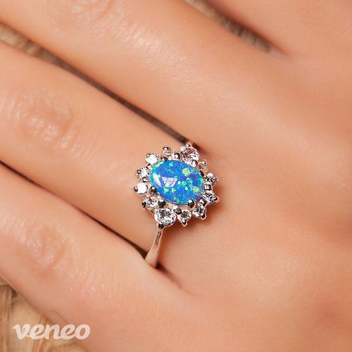 Scarlett - prsten s thajským opálem a zirkony