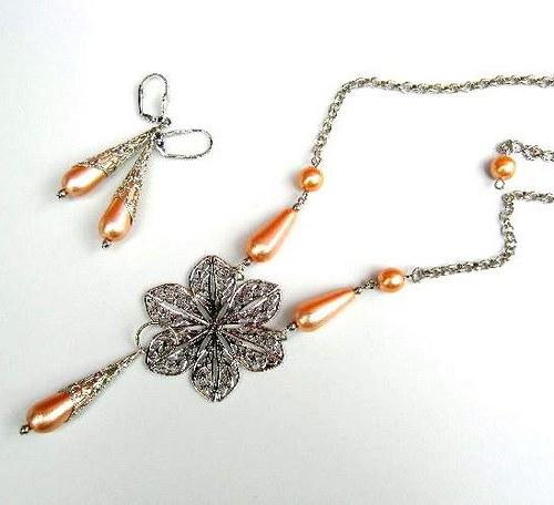 Orange lace set