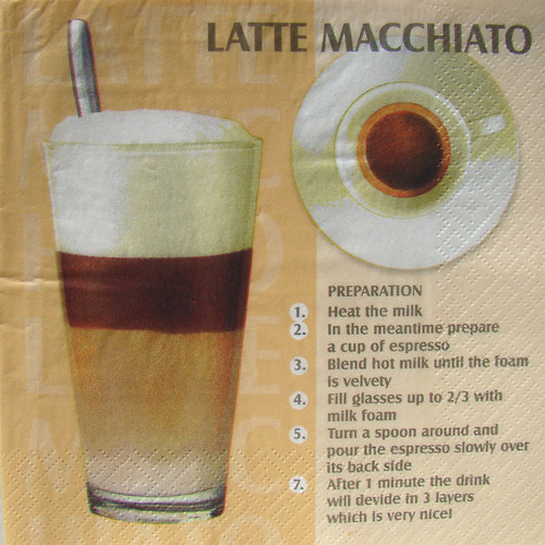 "Ubrousek \""Latte macchiato\"""