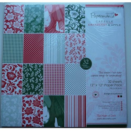 Vánoční papíry 30,5x30,5 cm