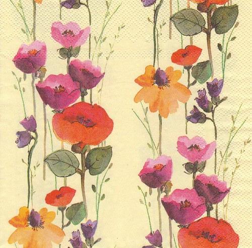 Ubrousek - květiny